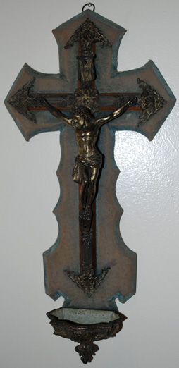 Blessed Crucifix Holy Water Font