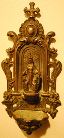 Rare Holy Water Font 1800's