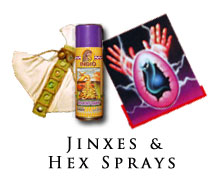 Jinx and Hex sprays and aerosols