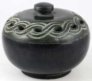 Celtic Scrying and Incense Bowl 4″