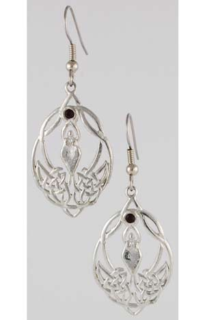 Celtic Knot Goddess with Crystal Earrings