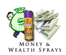 wealth and money sprays and aerosols