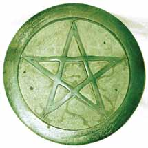 Soapstone Pentagram Incense Burner