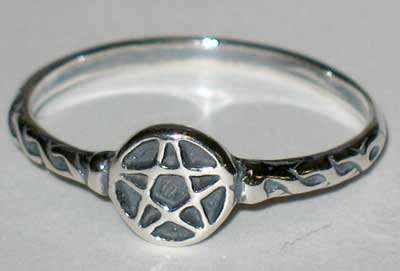 Tiny Pentagram Ring sz 7